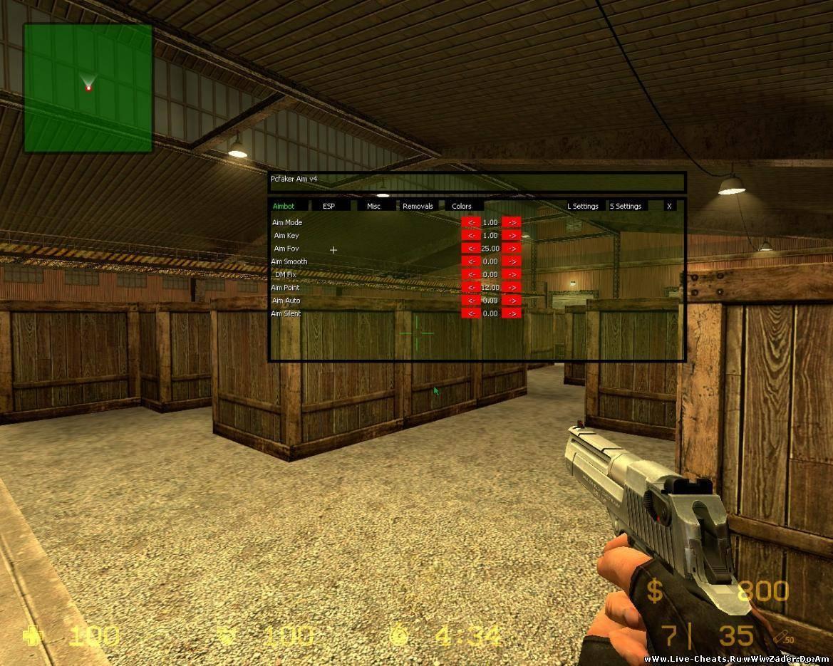 Бесплаевный Wall Hack(WH) для css v34